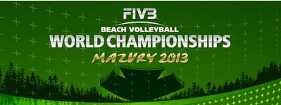 Beachvolleyball-Weltmeisterschaft 2013 in Stare Jablonki, Plakat