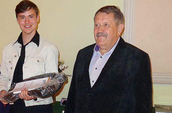 Mateusz Gawronski und Henryk Hoch, Vorsitzender des Verbands der deutschen Vereine in Ermland und Masuren