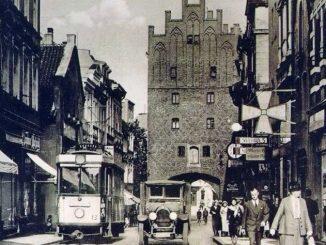 Allenstein, damaliges modernes städtisches Leben, Foto: Historische Ansichtskarte