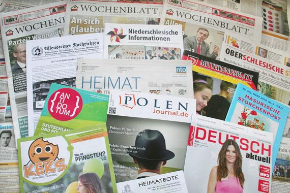 Deutschsprachige Zeitungen und Zeitschriften in Polen-Schlesien-Masuren-Wochenblatt-Internationale Medienhilfe IMH Björn Akstinat