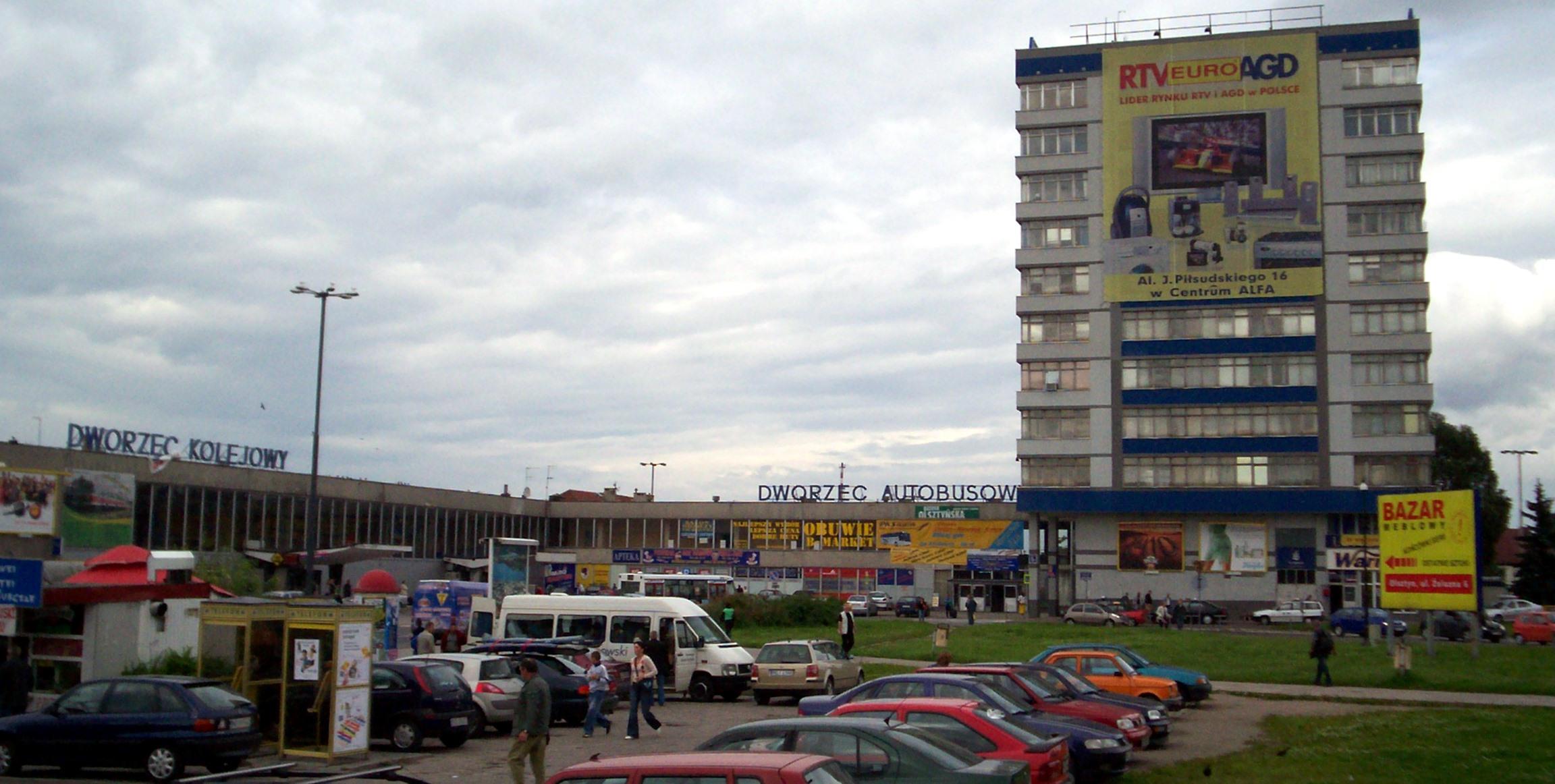 Die Tage des Hauptbahnhofs Olsztyn sind gezählt, Foto: Serdelll, GFDL,CC BY-SA 3.0,CC-BY-2.5
