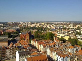 Foto: Stadtpanorama vom Turm der Nikolaikirche, Foto: Paweł Sutkowski, CC-BY-SA-3.0-PL