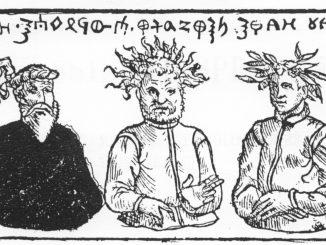 Pruzzengötter Patolos, Perkunos und Potrimpos nach Hartknoch und Grunau