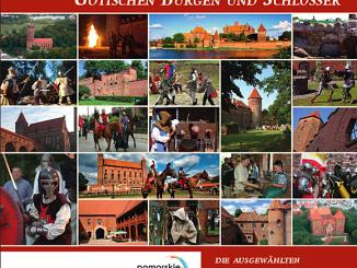 Cover der Broschüre über die Ordensburgen, Foto; Broschüren-Cover, © www.zamkigotyckie.org.pl