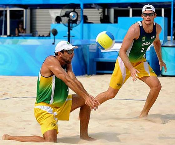 Brasilianische Beachvolleball-Kunst beim Grand Slam, Foto: Agência Brasil, CC BY-SA 2.5 br