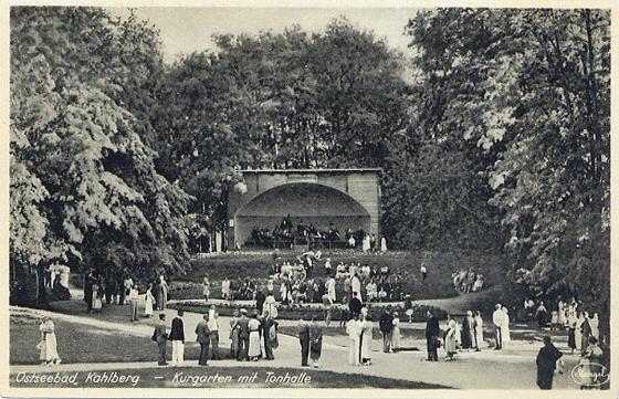 Kahlberg, Kurkonzert im Kurgarten, Foto: Ansichtskarte, historisch, gemeinfrei