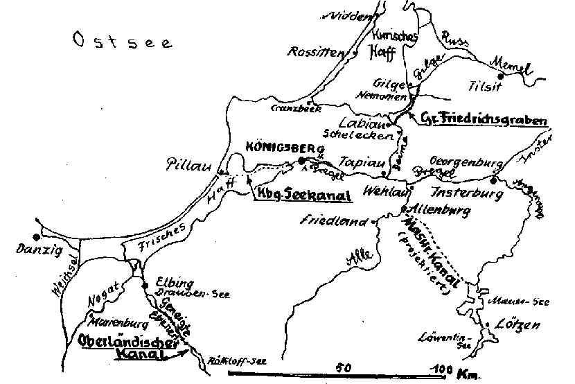 Ostpreußenkarte, Foto: Wikimedia Commons, public domain, CC-PD-Mark, PD Old, Quelle Kreisgemeinschaft Wehlau