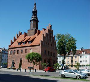 Das Rathaus in Mohrungen / Morąg, Foto: B.Jäger-Dabek