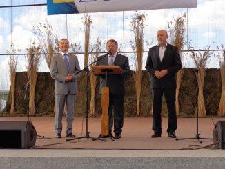 Bürgermeister Najmowicz, Verbandsvorsitzender Hoch und Starost Wlodzimierz Brodiuk