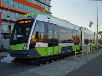Straßenbahnzug Solaris Tramino in Olsztyn