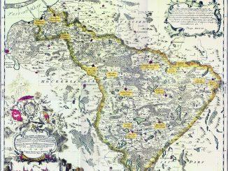 Karte des Ermlands von 1755 von Friedrich Endersch, Foto: CC-PD-Mark, PD Old
