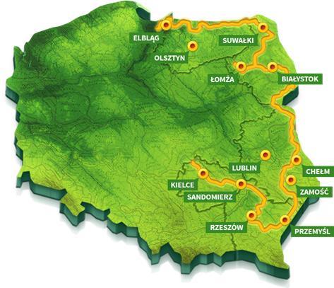 Karte des Radwegs Green Velo, Foto: © Green Velo