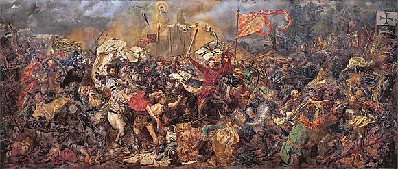 """Bitwa pod Grunwaldem (""""Schlacht bei Tannenberg""""), Historiengemälde von Jan Matejko"""