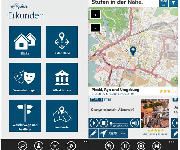 My Guide App Ermland Masuren, Foto: Screenshot der App