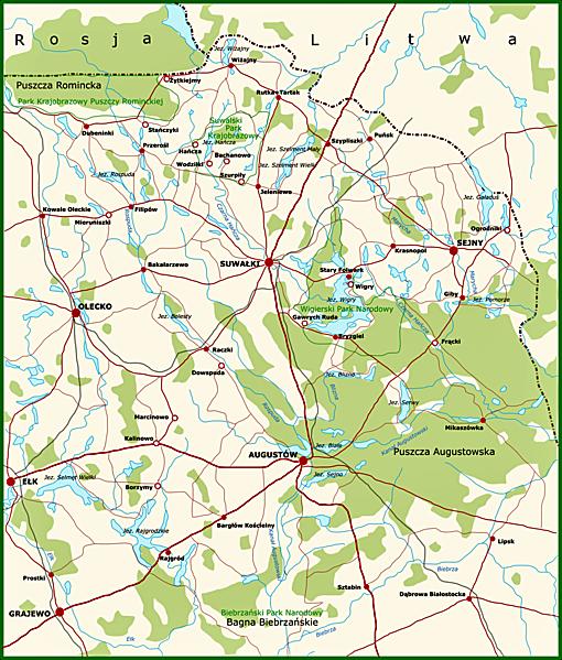 Karte der Suwalszczyzna, Foto: Wulfstan, CC-BY-SA-2.0