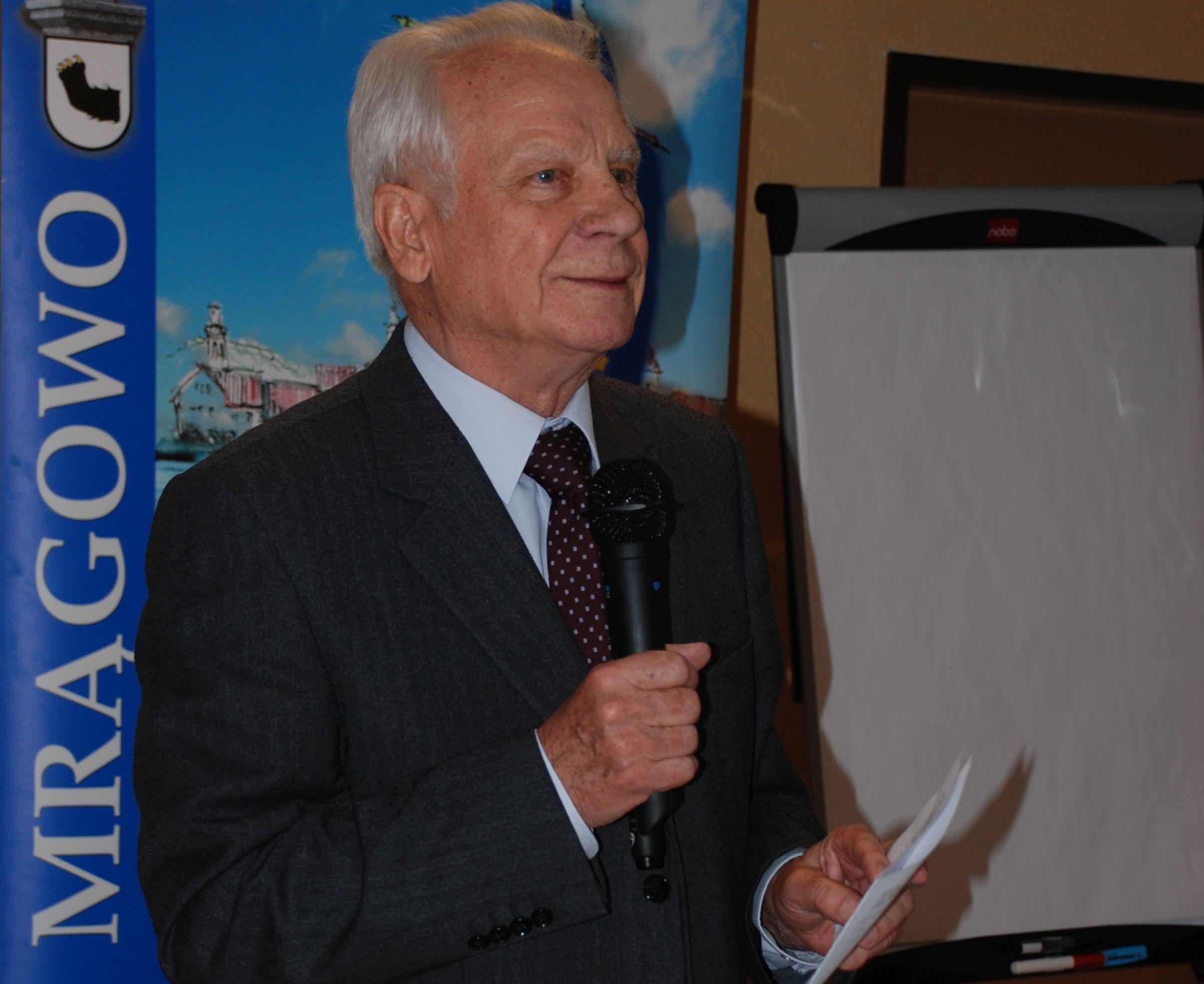 Tadeusz Willan bei einem Seminar der Masurischen Gesellschaft, Foto: B. Jäger-Dabek