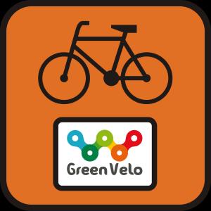 Markierungstafel des Radwegs Green Velo, Foto: © Green Velo